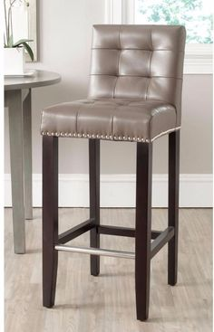 Clay Cushioned Bar Stool Fully Upholstered Dining Furniture Backrest 30 Inch #BarStool #Clay #Cushioned #Comfy #Stool #Seat #Furniture #BarDecor #Home #HomeDecor #Kitchen #Bar