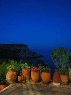 """Nightime in Anafi Island, Cyclades, Greece (photo by """"The Hoods"""") Mykonos, Santorini, Greece Art, Beautiful Places To Visit, Beautiful Islands, Greek Islands, Art And Architecture, Beautiful Landscapes, Garden Pots"""