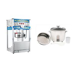 Great Northern Popcorn 6210 POPHEAVEN Commercial Quality Style Popcorn Popper Machine with 12Ounce Kettle and Zojirushi NHS10 6Cup Uncooked Rice CookerSteamer  Warmer White Bundle >>> Want additional info? Click on the image. (This is an affiliate link) #PartyFoodMachine