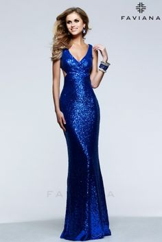 <p>Sequin V-neck dress with cut out side and low back</p>