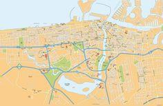 Dubai Vector Maps Vector | Download Eps Illustrator Maps
