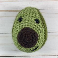 A personal favorite from my Etsy shop https://www.etsy.com/listing/536718292/happy-avocado-crochet-avocado-amigurumi