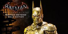 #Batman Arkham Knight 1/3 Batman Beyond Gold Statue by Prime 1 Studio    Prime 1 Studio is proud to present MMDC-10GL Batman Beyond Gold Edition from the Batman Arkham Knight. Inspired by the suit of the Batman of the future, Terry McGinnis, from the show Batman: Beyond. Terry was confirmed to...