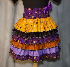 Serger Projects - Ruffled Halloween Skirt - Serging can make garment sewing so much easier than anyone would ever think. Even a first time sewer will be able to tackle this task. Use your Baby Lock serger to create adorable ruffles and a waved hem on this Halloween skirt that your little trick or treater can wear throughout the month of October.