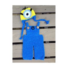 Crochet minion inspired outfit unisex baby costume by MiCraftShack