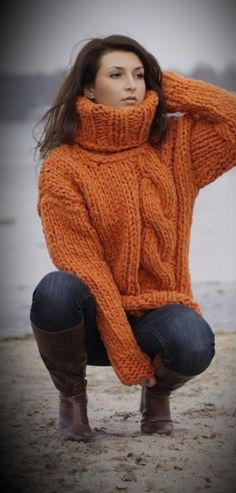 Thick Sweaters, Girls Sweaters, Sweaters For Women, Sweater Fashion, Sweater Outfits, Women's Fashion, Chunky Knits, Cowgirl Outfits, Mohair Sweater