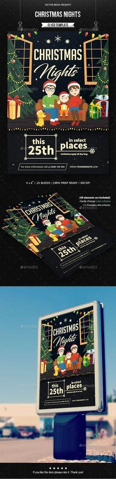 Christmas Nights - Flyer