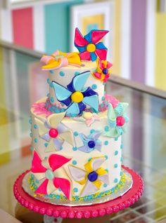 Pin wheel Cake, Leah's Sweet Treats in Fort Worth, TX