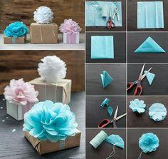 Papierblüten aus Sevietten