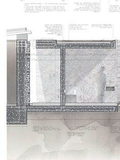 RCR Architects - Detail/drawing Revit Architecture, Architecture Graphics, Architecture Drawings, Concept Architecture, Architecture Details, Interior Presentation, Architect Drawing, Construction Drawings, Detailed Drawings