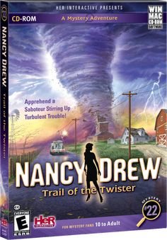 Nancy Drew: Trail of the Twister. Apprehend a Saboteur Stirring up Turbulent Trouble! http://www.herinteractive.com/Mystery_Games/Nancy_Drew/Trail_of_the_Twister/pc
