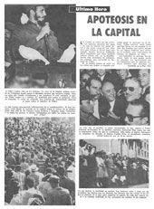Facsímil de la primera página del texto original Apoteosis en la capital, publicado por Bohemia el 11 de enero de 1959. (1)