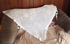 Gorgeous Vintage Crochet Women's Wrap Shawl Shabby Chic Winter White STUNNING  | eBay