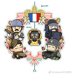 Rainbow Six Siege Anime, Rainbow 6 Seige, Tom Clancy's Rainbow Six, Cool Art, Kawaii, Fan Art, Assassin's Creed, Comics, Rainbows