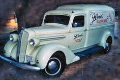"""1937 Dodge Humpback Panel Truck   Was in the Jim Carey Movie """"The Majestic"""" and   has painted graphics by Disney for the movie.   Has not been restored.   All original except for the added lights.   Complete car.   Engine runs great.   Price: $20,000."""