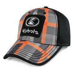 Kubota Youth Hat CheckBox Pattern Landscaping Equipment, Lawn Equipment, Snow Removal Equipment, Snow Plow, Kubota, Youth, Hats, Clothing, Pattern