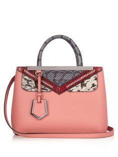 5f781b9234b5 FENDI Mini 2Jours Bag Bugs leather tote Purses And Handbags