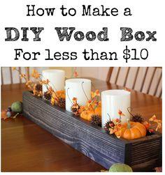 48 Ideas Diy Wood Box Centerpiece Design For 2019 Diy Wood Box, Small Wooden Boxes, Wood Boxes, Wooden Diy, Wood Box Decor, Pallet Boxes, Pallet Benches, Outdoor Pallet, Wooden Box Centerpiece