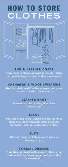 cheat sheet storing clothes wardrobe