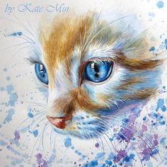 Kate Mur #CatWatercolor