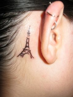 Tattoos aren't really my thing, but if I ever got one, it would have to be a teeny Eiffel Tower.