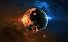 Preview wallpaper space, planet, background