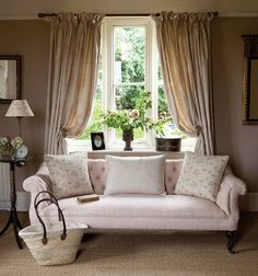 Love the curtains and the couch too