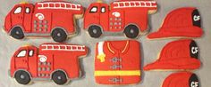 Fire Truck theme Cookies on Etsy, $28.00