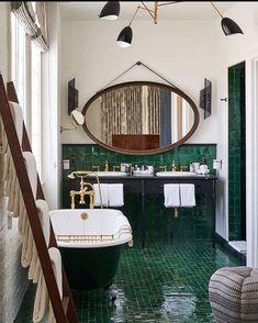 Beautiful bathroom by Soho House Los Angeles - Home Design and Decoration Soho House, Bad Inspiration, Bathroom Inspiration, Interior Inspiration, Interior Ideas, Interior Design Minimalist, Interior Modern, Luxury Interior, Minimalist Bedroom