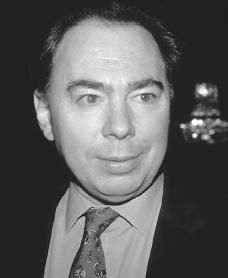 Andrew Lloyd Webber ~ one of my favorite musical composers....Phantom of the Opera, Evita and CATS are just a few of his works.