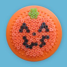 Jack-O-Lantern craft using Melty Beads