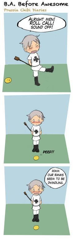 Chibi Prussia Diaries -038- by ~Arkham-Insanity on deviantART ~ So cute!!! :) <3 <3 <3