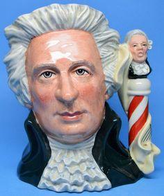 """Large Royal Doulton Character Jug """"Mozart"""" Toby Mug D7031 Great Composers Series"""