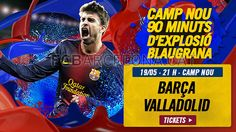 Tickets FCB - Valladolid #FCBarcelona #Tickets #CampNou #Game #Match