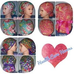 Scrub Caps, choose from 3 Gorgeous Summer Floral/Paisley fabrics in 5 Styles Unique and Fun Surgical Hats by ScrubLub Purple Wildflowers, Peach Peonies, Paisley Fabric, Scrub Caps, I Love Lucy, Ribbon Colors, Comfortable Fashion, Nurses, Doctors