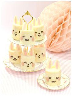 Cherie Kellys Bunny Deco Japanese Sponge Roll Cake Swiss Cakes Chiffon