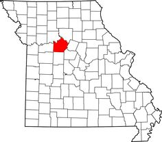 Map of Missouri highlighting Saline County - Members of the #51 - Members of the Fortson family later relocated to Missouri.  Charles married Emily Jane Green here on 31 Dec 1835.  We're coming up on their 180th wedding anniversary!