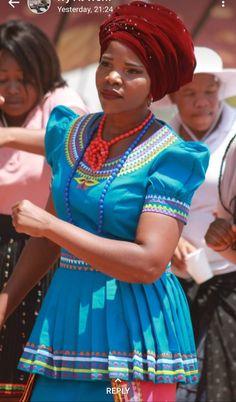 by Fatiki designs Pedi Traditional Attire, Sepedi Traditional Dresses, African Traditional Wear, Traditional Styles, African Print Fashion, African Prints, African Fashion Dresses, African Attire, African Wear