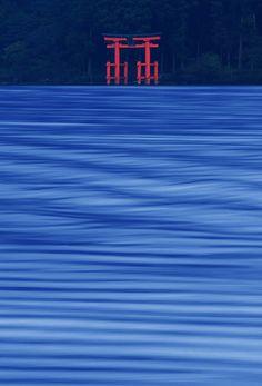 Lake Ashinoko, Hakone, Kanagawa, Japan. I was there. The Lake is lovely.