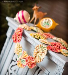 Yo Yo Garland - easy and super cute.  You can have your children make these with you.