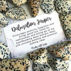 Dalmatian Jasper Tumbled Pocket Stone — Rocks with Sass Crystal Healing Stones, Stones And Crystals, Crystals For Healing, Quartz Crystal, Minerals And Gemstones, Rocks And Minerals, Chakra Crystals, Crystal Meanings, Rocks And Gems