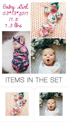 """baby girl announcement - au"" by victoriahasbigcitydreams-backup ❤ liked on Polyvore featuring art"
