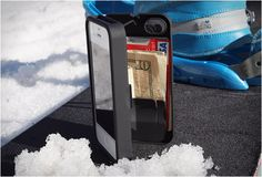 This has to be one of the most complete iPhone cases we have come across. The eyn iPhone storage case(available for iPhone4/4s) lets you hold everything you need in a secure, hidden storage space that clicks shut.  Carry your money, credit card, i.d....it even includes a mirror inside! You can also use the kickstand feature for watching movies or chatting via facetime.