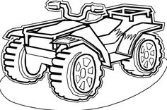 four wheeler coloring pages of Can-Am Outlander 800r at ...