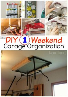 Brilliant Garage Organization Ideas that will super organize your garage. These incredible garage Organization ideas are amazing to keeping the garage tidy and organized. Check out these garage organization ideas to get a super organized garage. Diy Hanging Shelves, Diy Wall Shelves, Storage Shelves, Ladder Storage, Garage Shelving, Organized Mom, Getting Organized, Organized Garage, Garage Organization Tips
