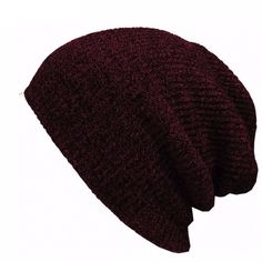 Keep warm and in style with these knit slouch beanies. Material: Cotton, Wool, Acrylic