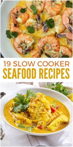These slow cooker seafood recipes include many of your favorites, from a low country boil to shrimp and grits to clam chowder. The crock pot is so convenient! via Rachel House Tips seafood Seafood Dishes, Seafood Recipes, Dinner Recipes, Seafood Meals, Seafood Boil, Seafood Platter, Seafood Stew, Lunch Recipes, Summer Recipes