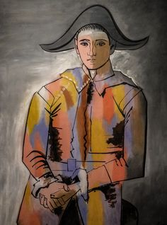 Pablo Picasso - Harlequin with Hands Folded, 1923 at Museum Ludwig Cologne Germany                                                                                                                                                                                 More