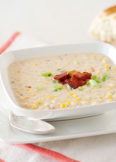 summer corn chowder -- instead of two cups of half/half, used one cup fresh cream and one cup milk, also couldn't find chicken broth so 2 cups water plus 1 bullion cube. delicious hot; equally delicious as a chilled soup the next morning!!!