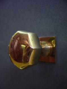 Vervloet Cat. No. 1005GM/1000  Door knob with rose and escutcheon.  ER Butler
